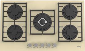 Газовая варочная панель Korting HGG 9835 CTB бежевый