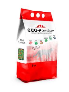 """Наполнитель комкующийся гигиенический """"Eco - Premium"""" Тутти-Фрутти 5 л."""