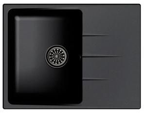 Мойка EWIGSTEIN кварц  Gerd 45F  1-чаша + крыло  650*500мм  черный  арт.EW-