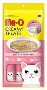 """Крем-лакомство для кошек Ме-О """"Creamy Treats"""", тунец-катсуо (4 штуки), 60 г"""