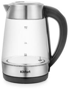 Чайник электрический Kitfort KT-6107 серебристый