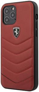 Чехол накладка Ferrari для Apple iPhone 12/12 Pro красный