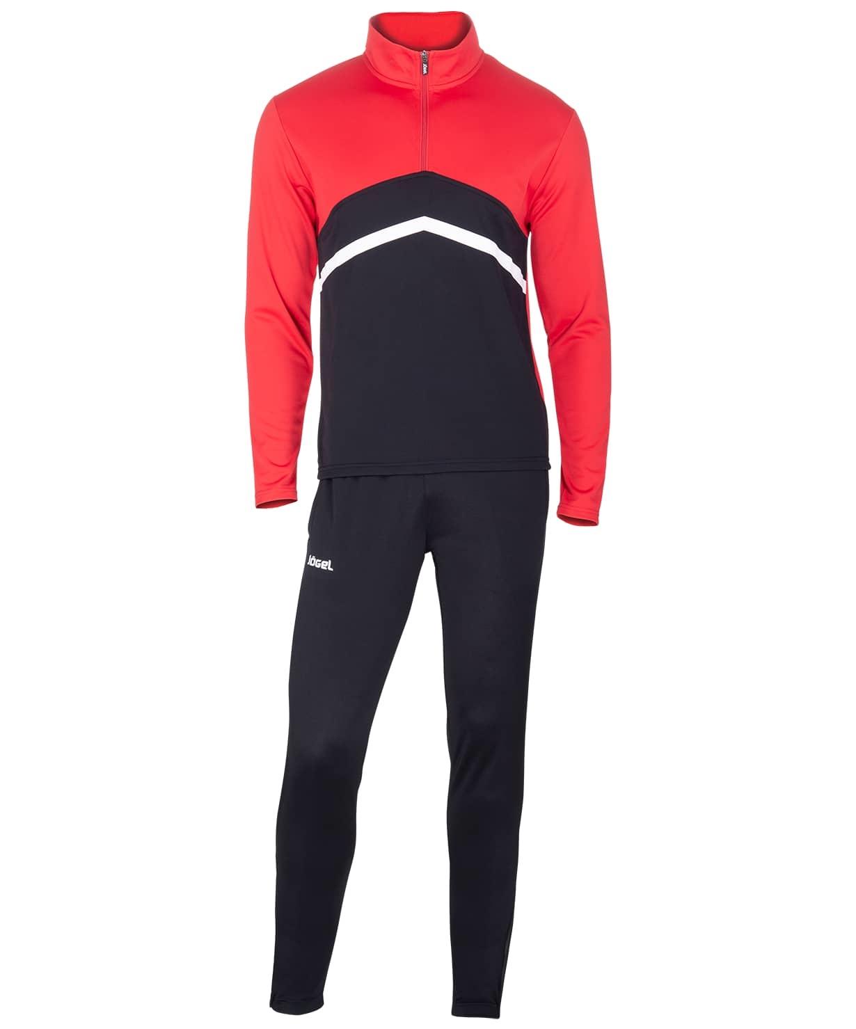 Костюм тренировочный JPS-4301-621, полиэстер, черный/красный/белый