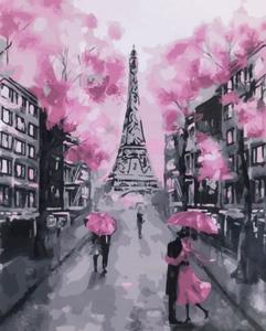 """Картина по номерам на холсте 40х50 """"Прогулка в Париже"""""""