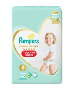 Подгузники-трусики PremiumCare Pants  ExtraLarge (15+кг) Упаковка 42 PAMPERS