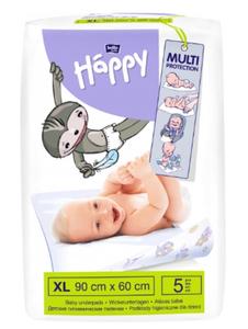 Пеленки гигиенические для детей baby Happy 90х60 5 шт Bella
