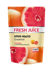 """Крем-мыло """"Grapefruit"""" (грейпфрут) с увлажняющим молочком Дой-ПАК 460мл Fresh Juice"""