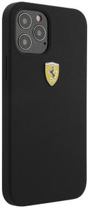 Чехол накладка Ferrari для Apple iPhone 12/12 Pro черный
