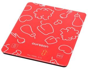 Весы кухонные OURSSON KS1001GD/RD