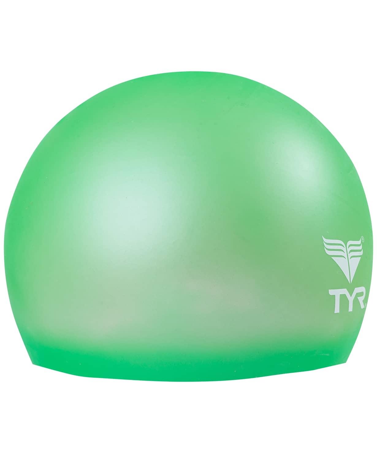 Шапочка для плавания Wrinkle Free Junior Silicone Cap, силикон, LCSJR/326, зеленый