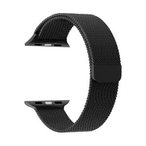 Ремешок из нержавеющей стали для Apple Watch 42/44 mm LYAMBDA CAPELLA DS-APM02-44-BK Black