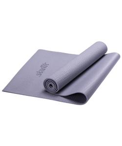 Коврик для йоги STARFIT FM-101 PVC 173x61x1,0 см, серый 1/12