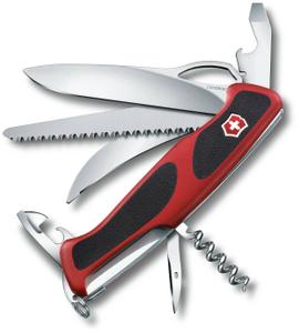 Нож перочинный Victorinox RangerGrip 57 Hunter (0.9583.MC) 130мм 13функций красный/черный карт.коробка