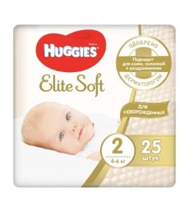 Подгузники Элит Софт 2 (4-6 кг) 25 шт Huggies