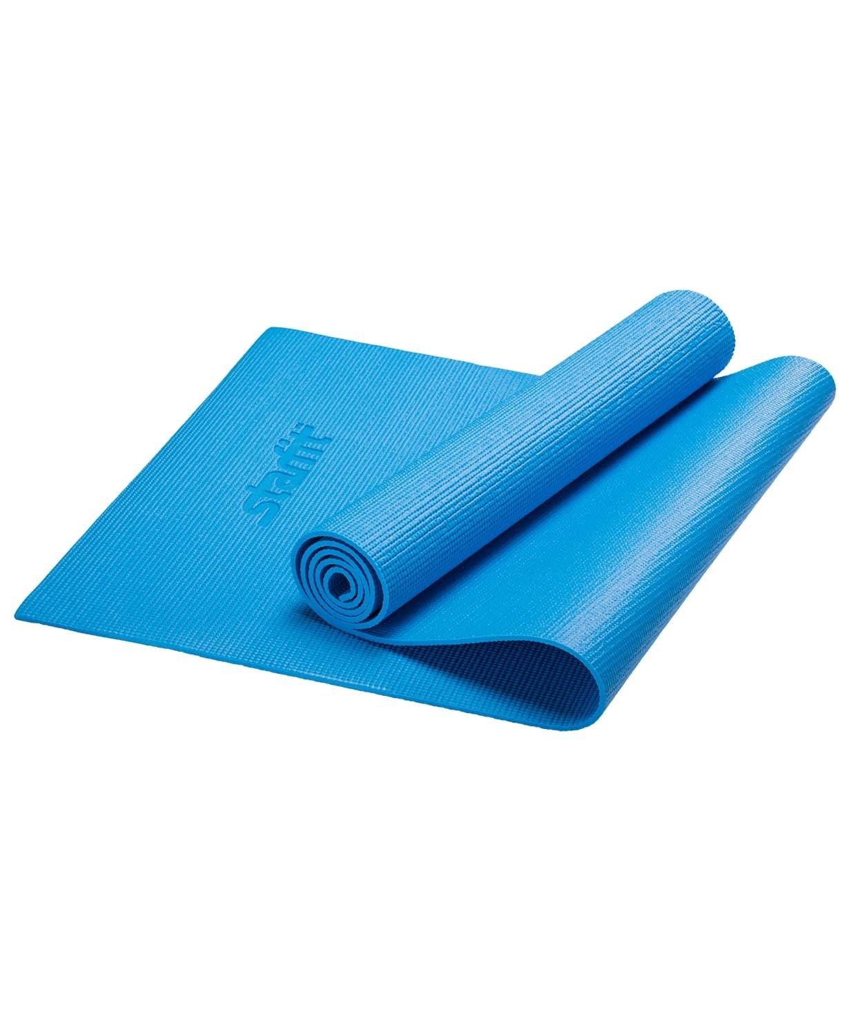 Коврик для йоги STARFIT FM-101 PVC 173x61x0,3 см, синий 1/20