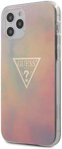 Чехол накладка Guess для Apple iPhone 12/12 Pro розовый