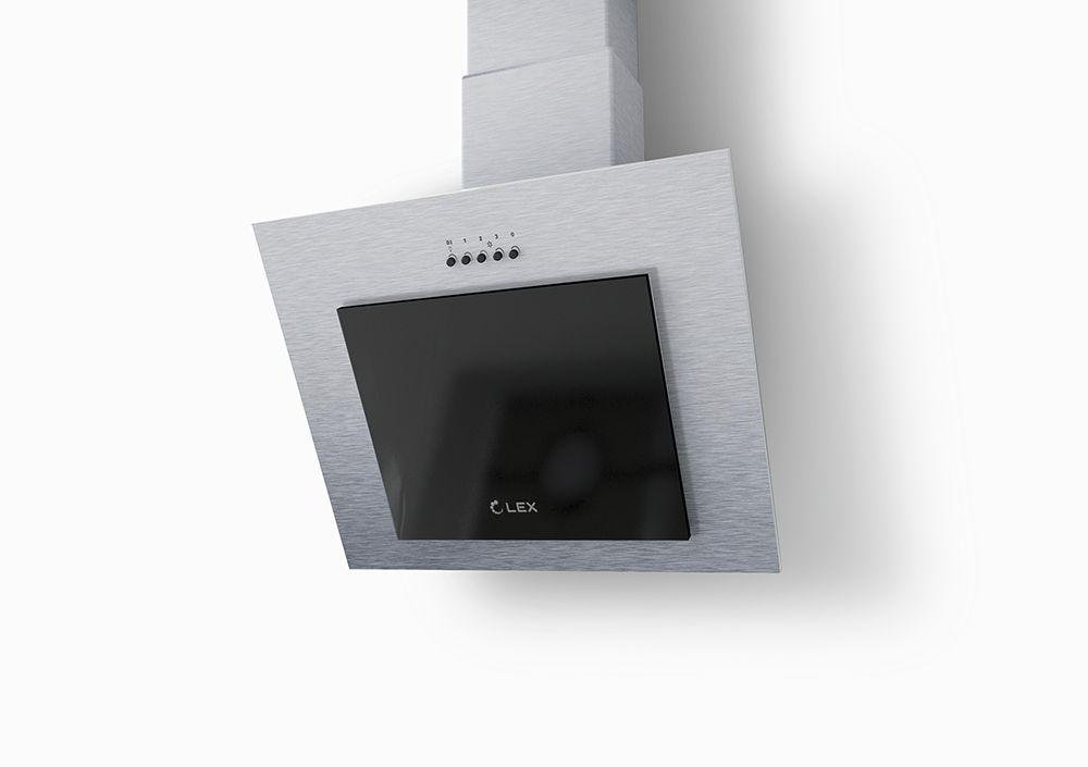 Вытяжка каминная LEX Mini 600 серебристый