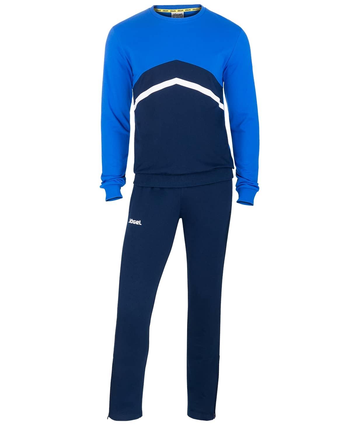 Тренировочный костюм JCS- 4201-971, хлопок, темно-синий/синий/белый