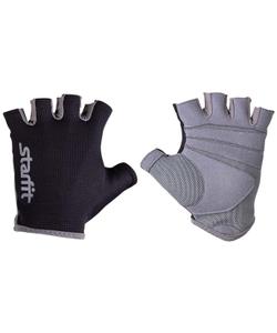 Перчатки для фитнеса STARFIT SU-127, черный/серый (L)