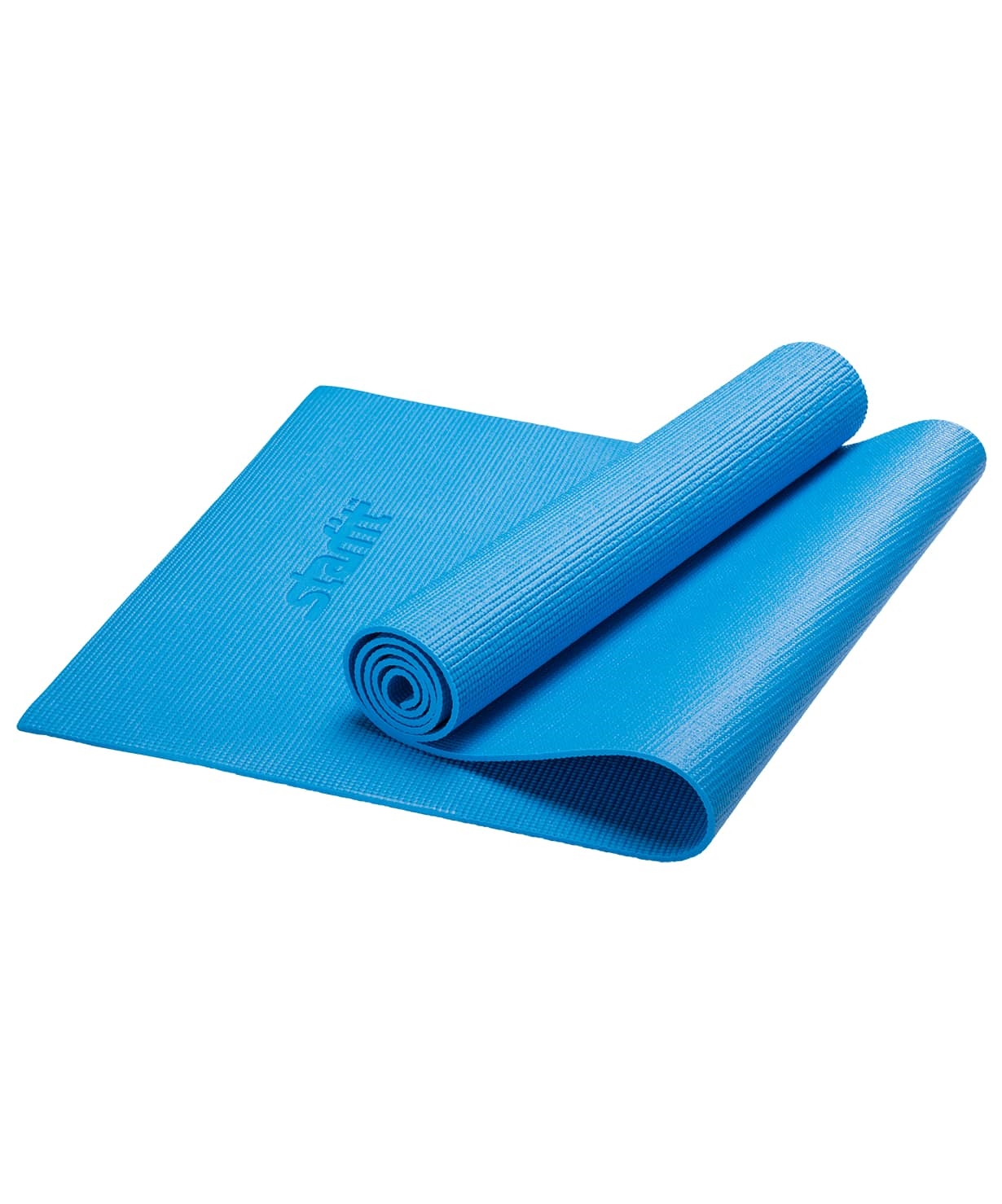 Коврик для йоги FM-101, PVC, 173x61x0,6 см, синий