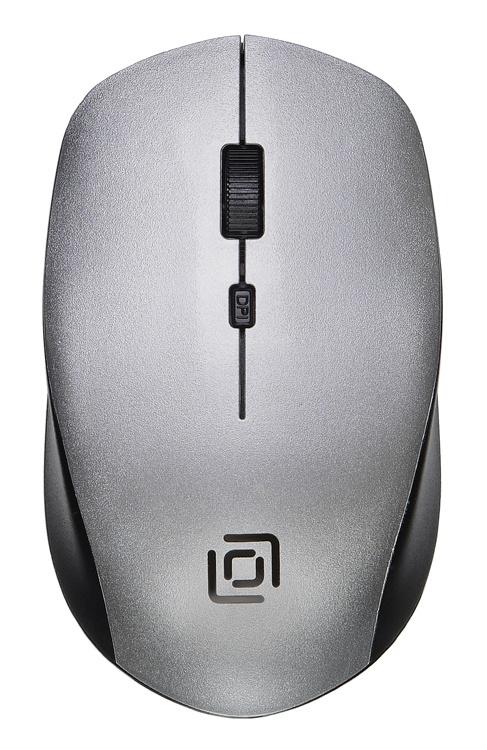 Мышь беспроводная Oklick 565MW серебристый