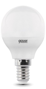 Лампа светодиодная Gauss Elementary Шар 10W 710lm 3000K Е14 LED