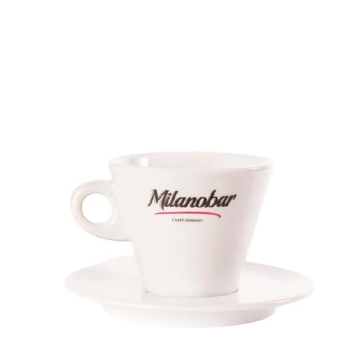 Чашка кофейная с блюдцем для дабл капучино или латте Milanobar, 270 мл