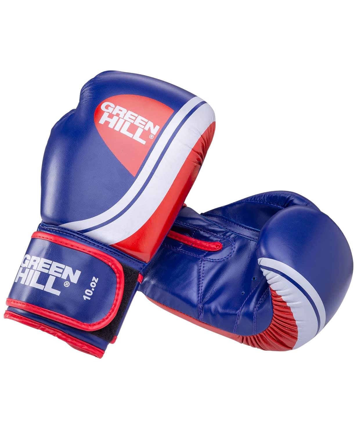 Перчатки боксерские Knockout BGK-2266, 8oz, к/з, синий