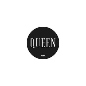 Стикер Queen черный