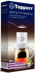 3051 Topperr Фильтр-пакеты для чая №2 (средние), упаковка 80 шт
