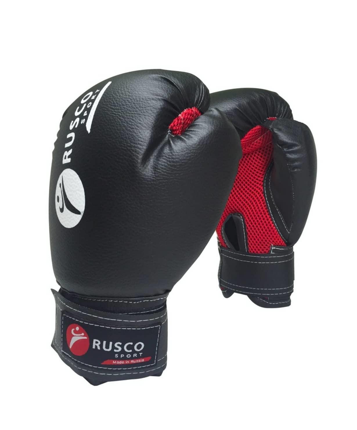 Перчатки боксерские, 6oz, к/з, черный