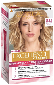 Крем-краска для волос Excellence 8.13 Светло-русый бежевый L'Oreal Paris