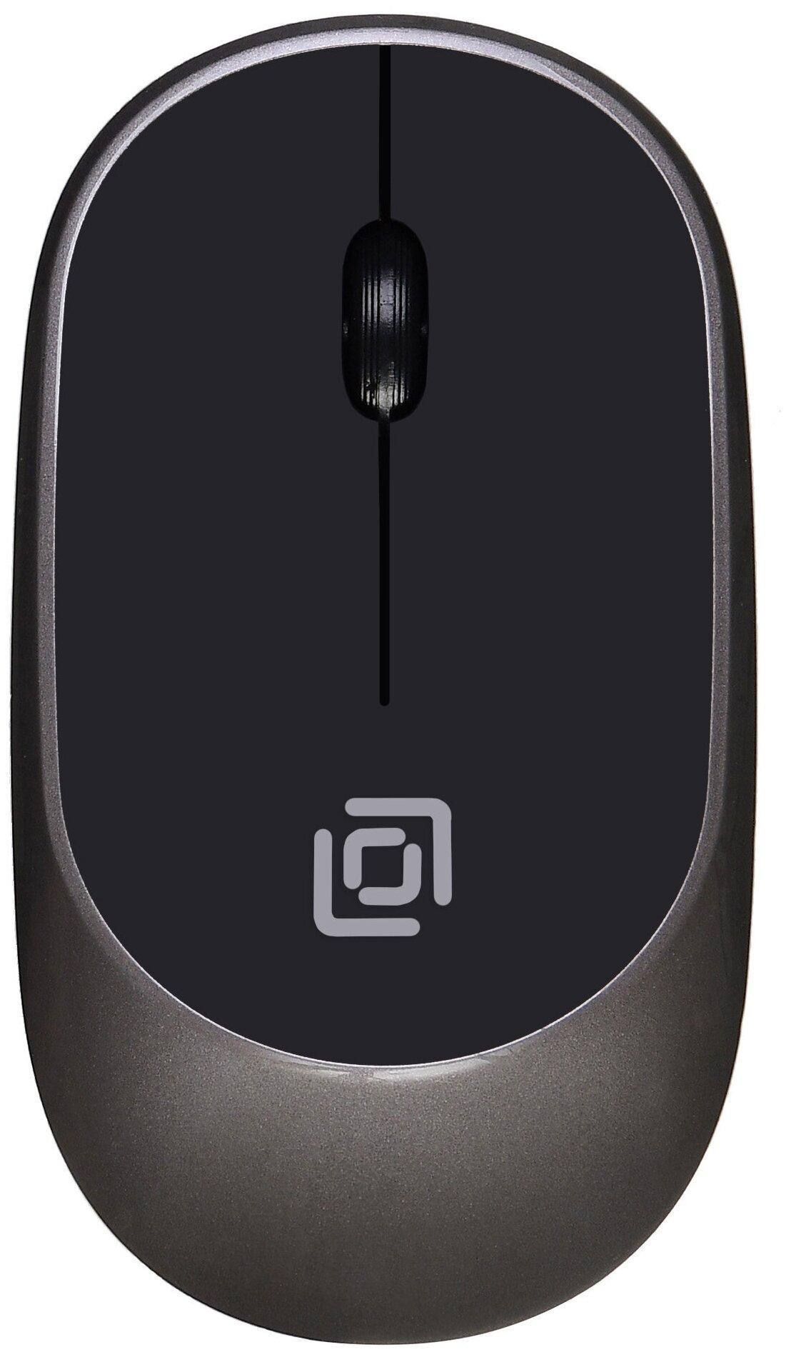 Мышь беспроводная Oklick 535MW серый