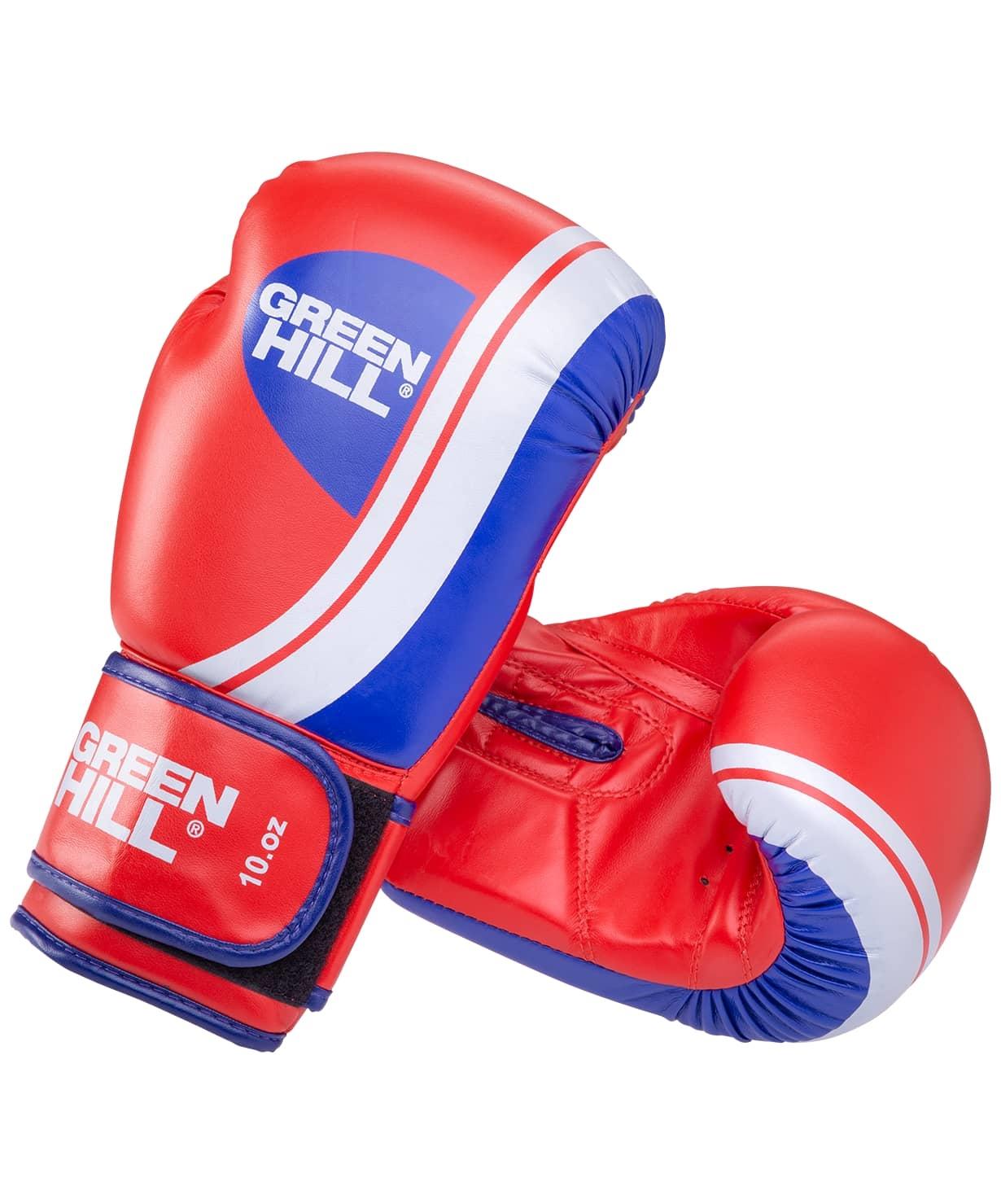 Перчатки боксерские Knockout BGK-2266, 10oz, к/з, красный