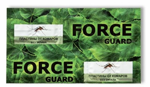 Пластины от комаров зеленые 10шт FORCE