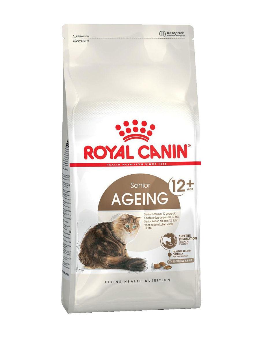 Royal Canin Ageing 12+ корм сухой для стареющих кошек старше 12 лет 2 кг.
