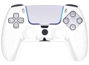 Аксессуар PS5  Защитная силиконовая Белая накладка-чехол для джойстика Sony Playstation 5 Картофан