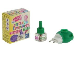 Комплект жидкость 60ночей+фумигатор эвкалипт Детский Домовой