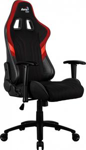 Кресло для геймера Aerocool AERO 1 Alpha Black Red , цвет черно-красный, Air Mesh ткань + ПВХ, до 150 кг, ШxДxВ: 68x70x125-133см