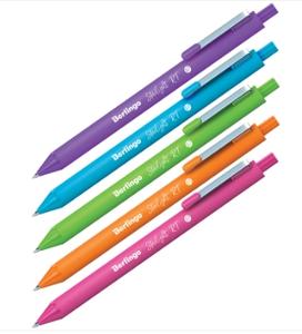 """Ручка шариковая автоматическая Berlingo """"Starlight RT"""", синяя, 0,7мм, корпус ассорти"""