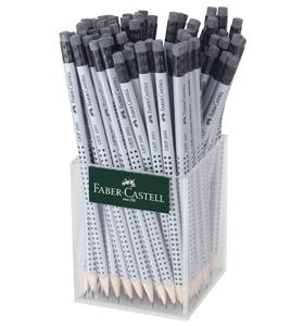 """Карандаш ч/г Faber-Castell """"Grip 2001"""" HB, с ластиком, трехгран., заточен., стакан"""