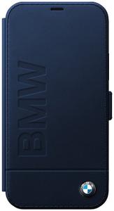 Чехол книжка BMW для Apple iPhone 12 Pro Max синий