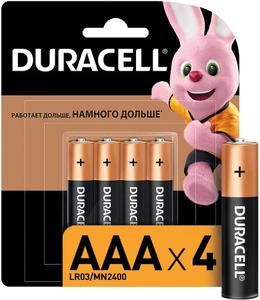 Батарейка Duracell LR03-4BL BASIC (4 шт)