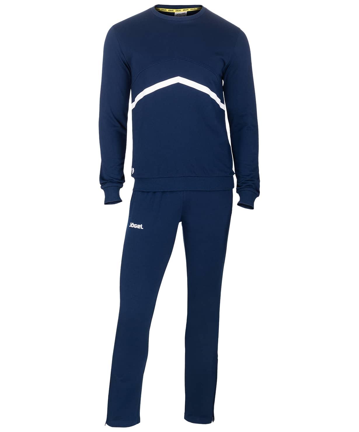 Тренировочный костюм JCS-4201-091, хлопок, темно-синий/белый