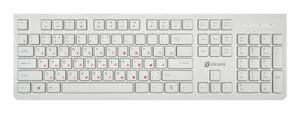 Клавиатура проводная Oklick 505M белый