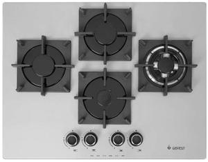 Газовая варочная панель GEFEST ПВГ 2231-01 Р36 серый