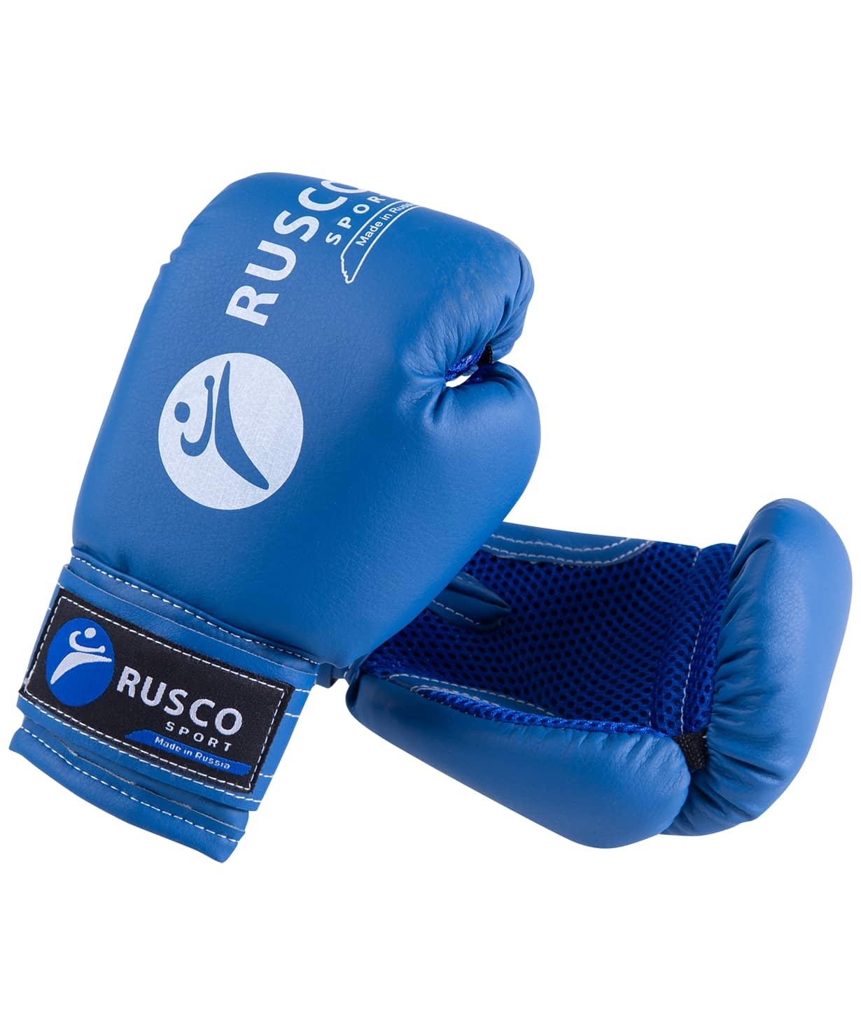 Набор для бокса, 6oz, к/з, черный/синий