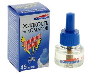 Жидкость от комаров 45 ночей Тройной удар Домовой