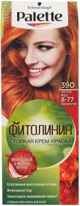 Краска для волос №390 (8-77) Светлая медь 110мл Palette
