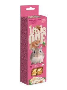 """LITTLE ONE / Лакомство для грызунов """"Палочки"""" с воздушным рисом и орехами 110 гр."""